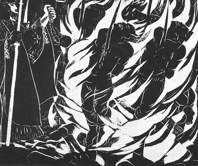 Derkovits Gyula: VIII. Máglyák - Dózsa-sorozat (1928)