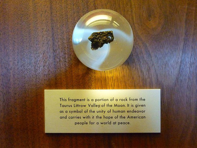 Eddig ez volt az egyetlen holdkőzet a bécsi Természettudományi Múzeumban