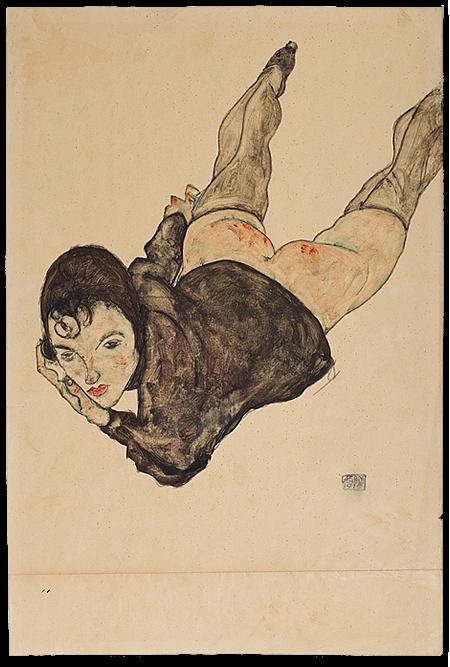 Egon Schiele: Fekvő nő (Fotó: auctionata.com)