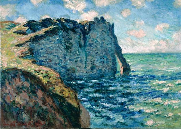 Claude Monet: Az avali sziklák (1885)