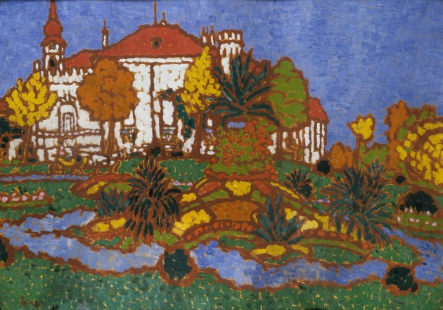 Rippl Rónai József: Geszti kastély Somogyban (1912)