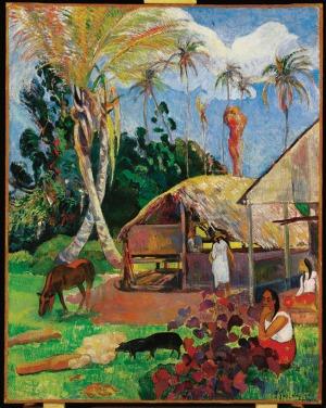 Paul Gauguin: Fekete sertések (1891)