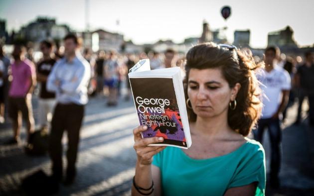 George Orwell: 1984 (Fotó: George Henton/Al Jazeera)