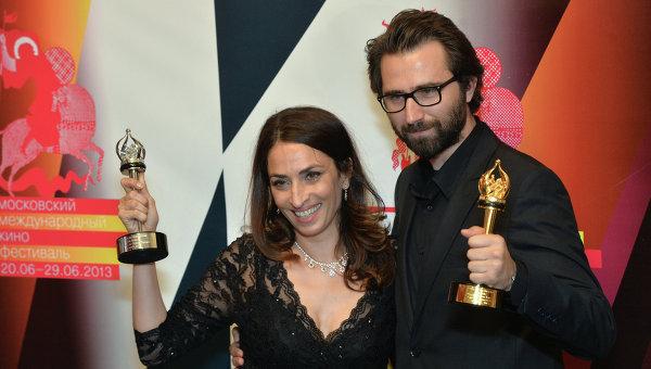 Jale Arikan és Erdem Tepegöz a Moszkvai Nemzetközi Filmfesztiválon (Fotó: tweetminster.co.uk)
