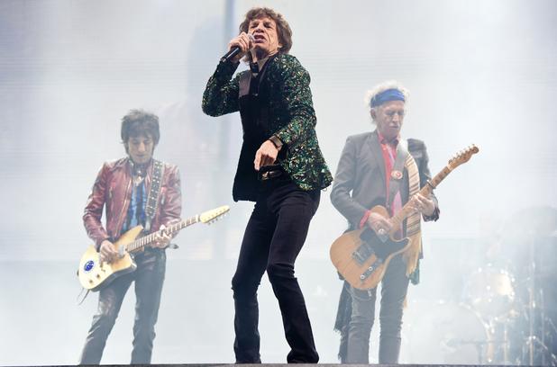 Mick Jagger, Keith Richards és Ronnie Wood Glastonburyben (Fotó: digitalspy.co.uk)