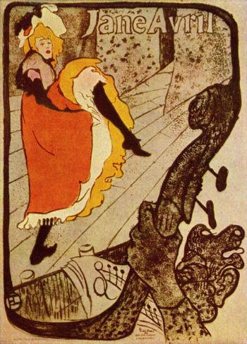 Henri de Toulouse-Lautrec által festett plakát a 19. század egyik leghíresebb kánkán táncosáról