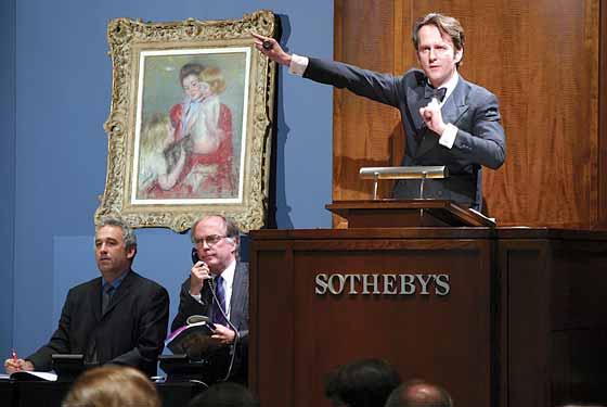 A Sotheby's árverése (Fotó: artspeakchina.org)