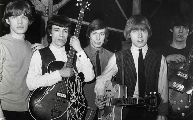 Mick Jagger, Bill Wyman, Charlie Watts, Brian Jones és Keith Richards (Fotó: John Chilton, forrás: telegraph.co.uk)