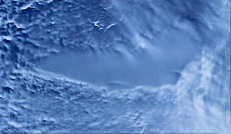 Radarfelvétel a Vosztok tóról