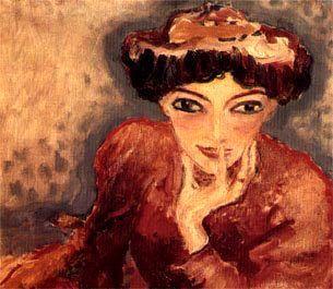Kees van Dongen: A gondolkodó nő (forrás: terminartors.com)