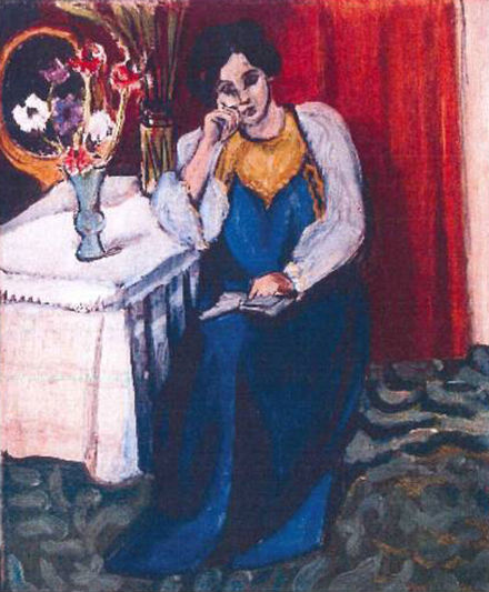 Henri Matisse: Olvasó lány fehérben és sárgában (1919)