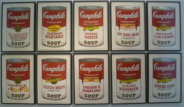 Andy Warhol: Campbell-féle leveskonzervek, 1962