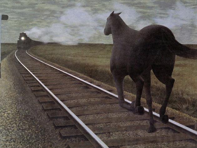 Alex Colville: Horse and Train