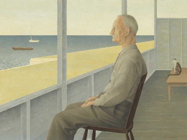 Alex Colville: Man on Verandah, 1953