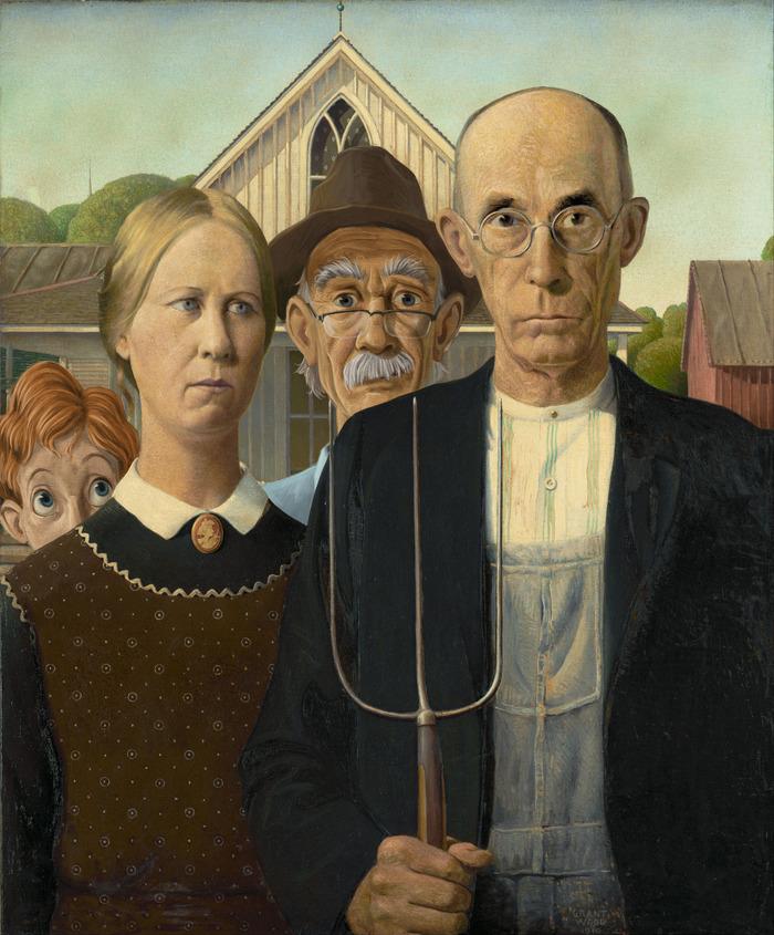 A két főszereplő fotóbombája az amerikai gótika legendás párjával