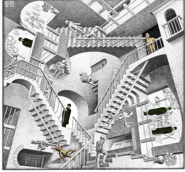 Walt és a nagypapa beszorultak egy Escher-rajzba