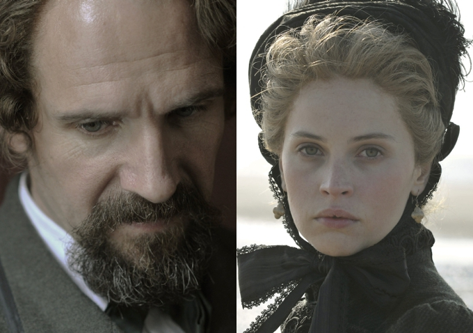 Ralph Fiennes & Felicity Jones az Invisible Womanben (Fotó: blogs.indiewire.com)