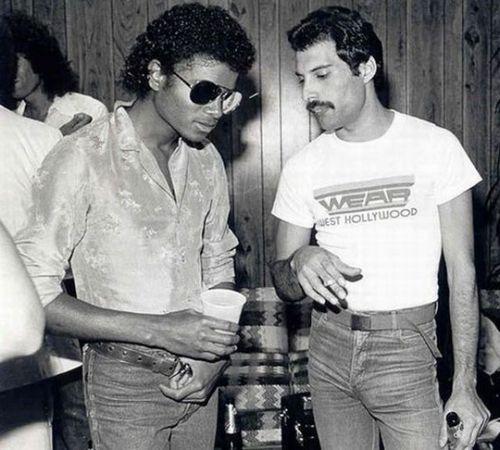 Michael Jackson és Freddie Mercury (Fotó: kootation.com)