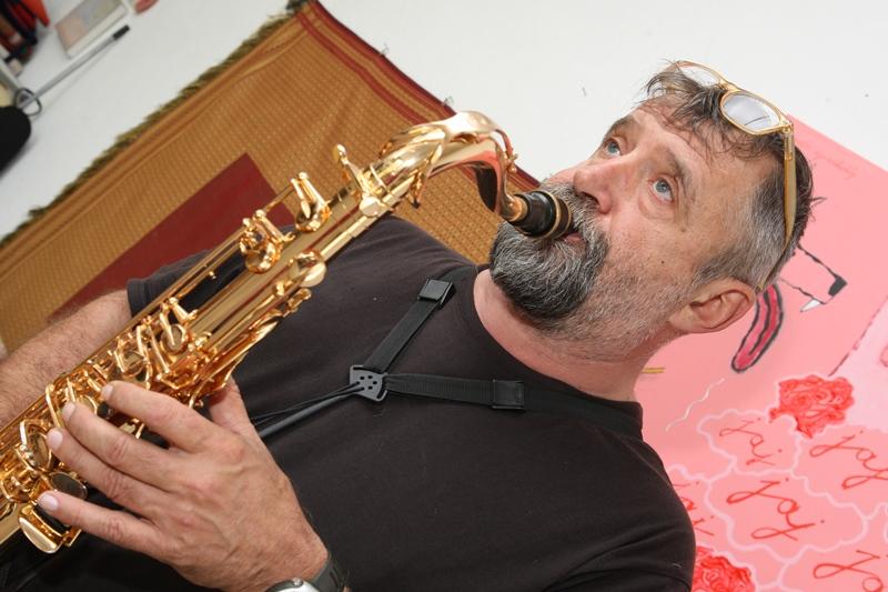 Wahorn András szaxofonon (Fotó: pepitamagazin.com)