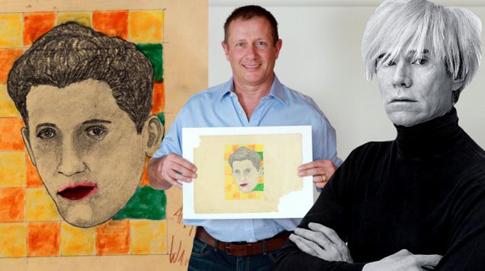 A rajz, a megtaláló és a művész (Fotó: elitedaily.com)