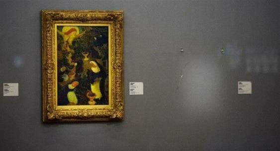 Az egyik ellopott festmény üres helye a Rotterdam Kunsthalban (Fotó: blogs.artinfo.com)