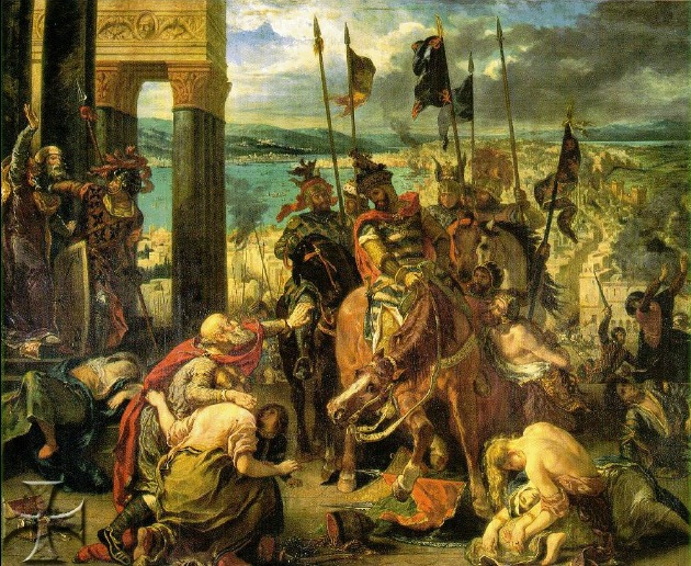 A keresztesek bevonulása Konstantinápolyba