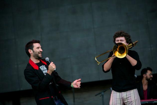 Manuel Nectoux a bal oldalon (Fotó: Sziget/Mohai Balázs)