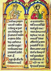 II. András és Gertrúd egy szászországi zsoltároskönyvben (fotó: wikipedia)