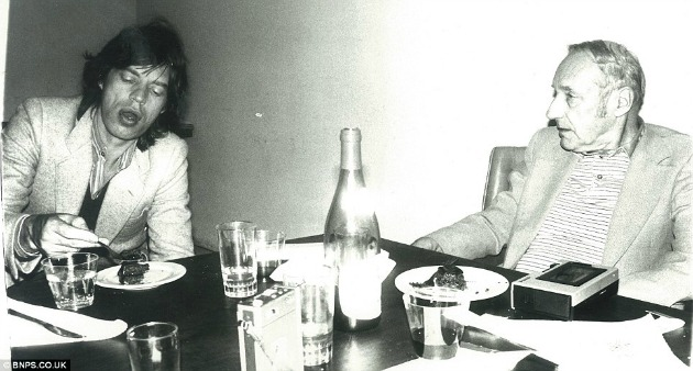 mick Jagger és az író William Burroughs (Forrás: dailymail.co.uk)