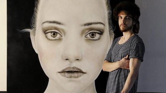 Matt Doust Archibald-díjra jelölt portréja mellett