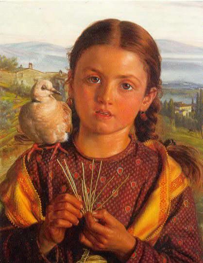 William Holan Hunt: Tuscan Girl