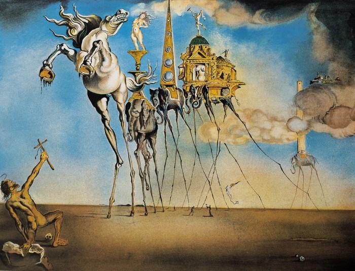 Salvador Dalí: La tentacion de San Antonio