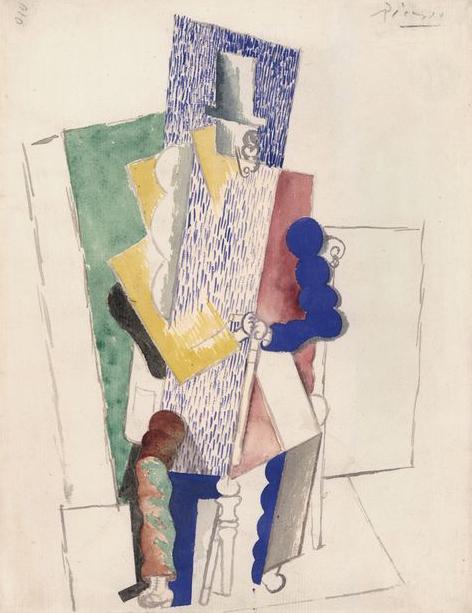 A nyeremény: Picasso - L'Homme au Gibus, 1914