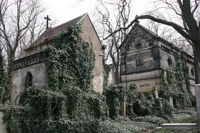 Az Olsany temető Prágában - sok híres ember itt nyugszik