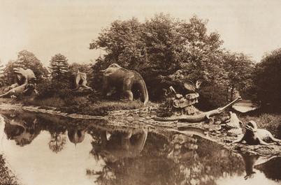 A dínók száz évvel ezelőtt (Crystal Palace Park, London 1911)