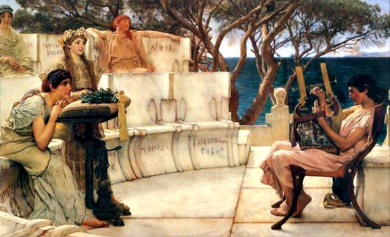 Sir Lawrence Alma-Tadema: Szapphó és Alkaiosz