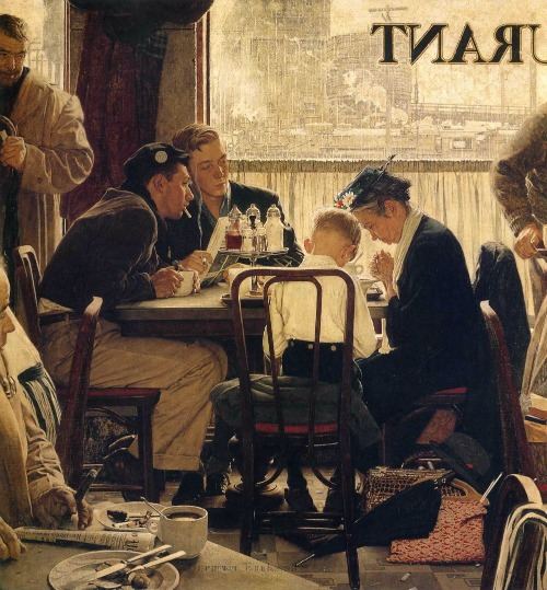 Norman Rockwell: Saying Grace (Forrás: wikipaintings.org)
