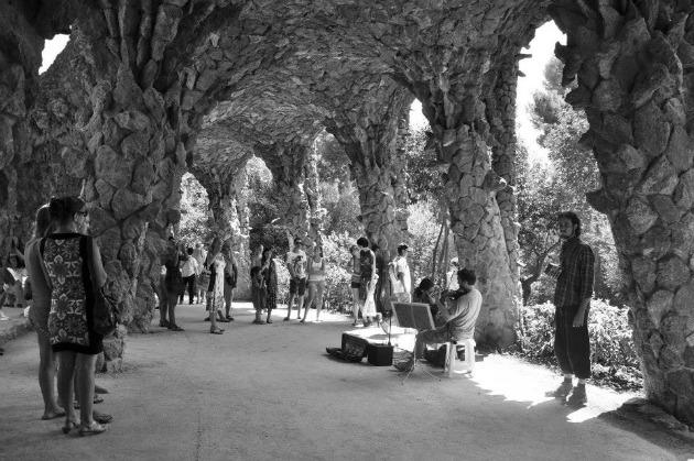 Utcazenészek a Park Güellben (Fotó: Simay Dóra)