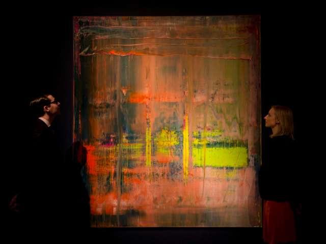 Gerhard Richter: Absztrakt kép 809-1 (Fotó: blick.ch)