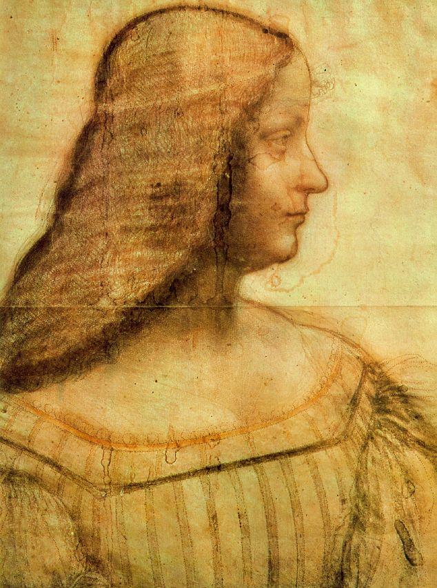 Isabella d'Este egy másik Leonardo Da Vinci festményen