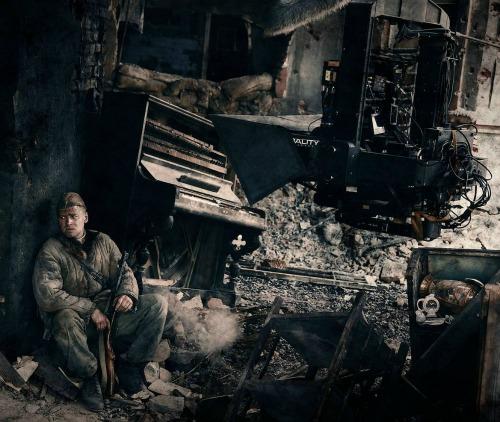 A Sztálingárd forgatásán (Fotó: 3dfocus.co.uk)