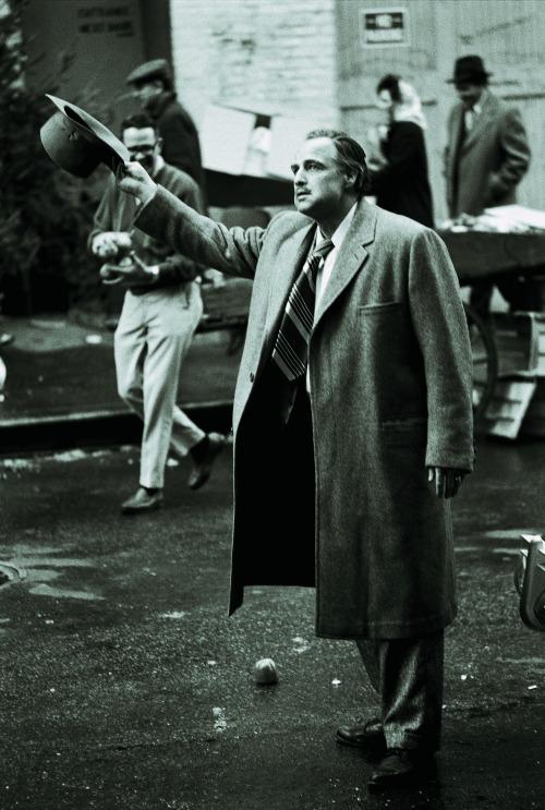 Marlon Brando a forgatáson (Fotó: Steve Schapiro, forrás: huffingtonpost.com)