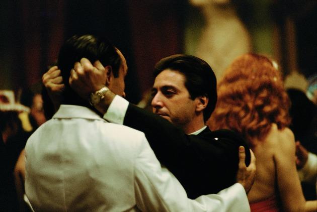 Michael Corleone (Al Pacino) és a testvére, Fredo (John Cazale) (Fotó: Steve Schapiro, forrás: huffingtonpost.com)