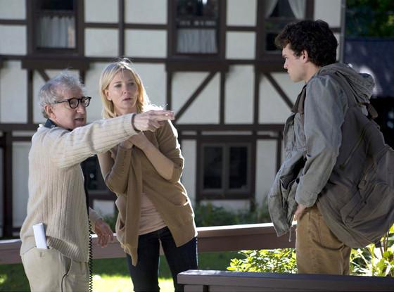 Woody Allen és Cate Blanchett a Blue Jasmine forgatásán (Fotó: eonline.com)