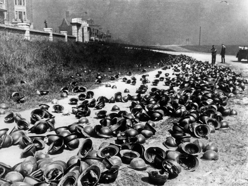 Britek és franciák által hátrahagyott felszerelések