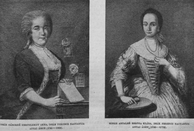 Deák Ferenc két nagyanyja (Fotó: egerszeginfo.hu)