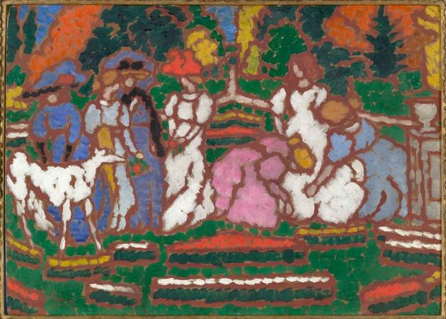 Rippl-Rónai József: Jelenet Somssich gróf kertjében (1912-13)