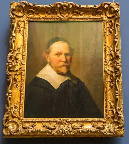 Rembrandt: Idős férfi portréja pápai kalapban (Fotó: Michael Reichel/dpa)