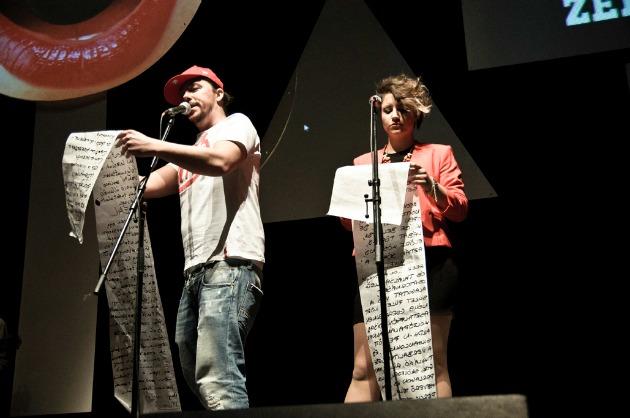 A moderátorok: Zeek és Hugee (Fotó: Pereszlényi Erika)