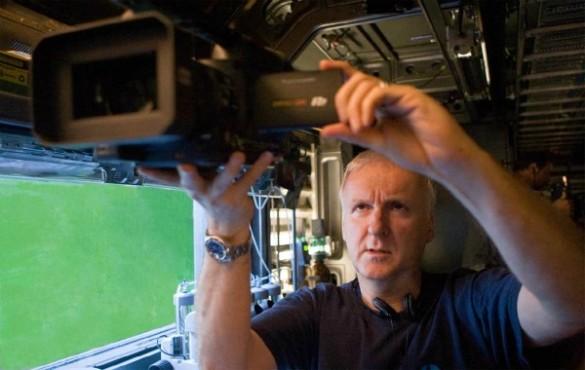 James Cameron az Avatar forgatásán (Fotó: backstageol.com)